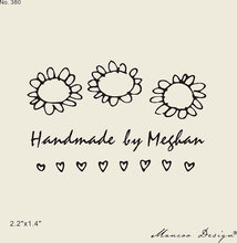 "Customized Sunflower Love Stamp Personalized Logo Custom Rubber Stamp Handmade Stamp 2.2""x1.4"""