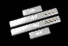 4pcs/lot stainless steel scuff plate door sill 4pcs/set car accessories for 2013 HONDA Accord MK9