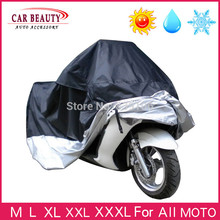 Big Size Universal Car Motorcycle Cover Waterproof Dustproof Scooter Covers UV Snow Resistant PEVA Heavy Racing Bike Cover(China)