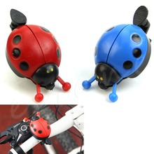 1PC Cartoon Ladybug Bicycle Bike Ring Bell Cute Cycling Siren Kids Outdoor Sports Mini Bells Bicycle Accessories