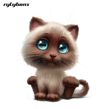 Buy rylybons funny body car sticker animal 3D cartoon Lovely Cat 15*18 widow car stickers decals car-styling accessories Kia for $1.45 in AliExpress store
