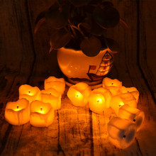Beautiful Looking LED Flameless Tea Light Candle with Flikering Light for Bars Hotel Restaurant Decoration Romantic 12pcs