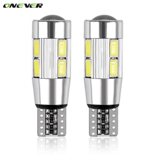 2PCS Car Styling Car Auto LED T10 194 W5W Canbus 10 SMD 5630 LED Light Bulb No Error LED Light Parking T10 LED Car Side Light(China)