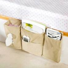 2016 Portable Bedside Bed Pocket Bed Organizer Hanging Bag Phone Holder Storage Bag