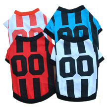 Pet Clothing Classic Dog Football Jersey Puppy Polo Shirt Clothes for Small Dogs Cats Puppy Soccer Apparel Dog Costume XS S M L