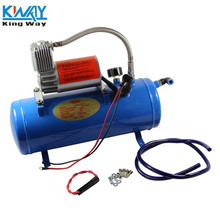 FREE SHIPPING - King Way - 150PSI DC 12V AIR COMPRESSOR WITH 6 LITER TANK FOR TRAIN HORNS MOTORHOME TIRES