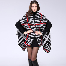 Luxury Brand New Women 's Long Plus Scarf Winter Wool Knitted Stripe Scarves Soft Comfortable Thick Warm Handmade Cashmere Shawl(China)