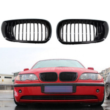 Gloss Black Car Front Bumper Center Grille for BMW E46 3 Series 4 Door 2002-2005