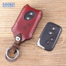 Dandkey Genuine Leather Key Shell 4 Buttons Key Case Fob Case For Lexus GS430 ES350 GS350 LX570 IS350 RX350 IS250(China)
