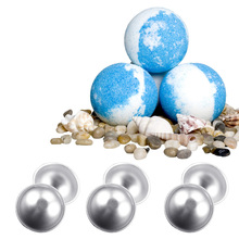 Behokic 8PCS DIY Homemade Bomb Ball Shape Molds Aluminum Alloy Balls DIY Bathing Tool Cake Pan Baking Mold Pastry Tools
