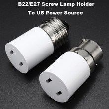 Lamp Base B22/E27 Socket Lamp Base Holder Converter To US Power Female Outlet Adapter Connector AC110-220V