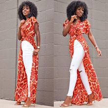 Buy Bohemian maxi dress 2018 spring summer floral printed beach dress african women boho robe clothing sexy high slit party dresses for $22.57 in AliExpress store