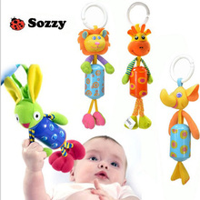 Sozzy Musical Baby Rattle Baby Mobile Bed Hang Bed Bell Plush toy Dolls Animal Style Elephant Rabbit Lion Deer