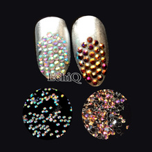1000pcs ss6 2mm Sizes AB Rhinestone Stones Nail Art Crystal Resin Flatback Rhinestone Beads No Hotfix For Clothes Decoration