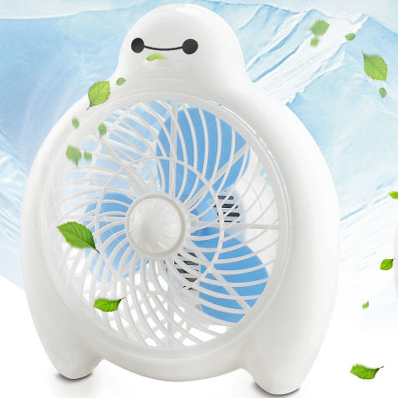 2017 New Arrival Baymax Fan 2 Gear Air volume Ventilador Mini Quiet Electric fan For Home Office Students<br>