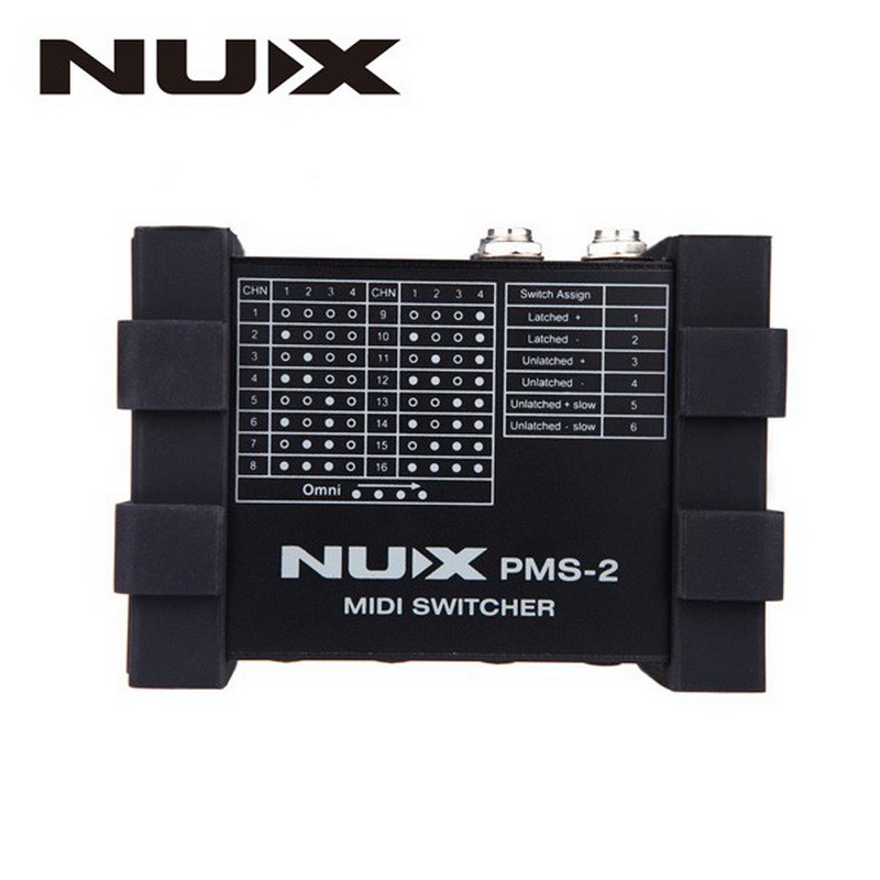 NUX PMS-2 Aluminum alloy housing Guitar Switcher MIDI Switcher Remote Control 6 devices with more than 128 presets Lock Function<br><br>Aliexpress