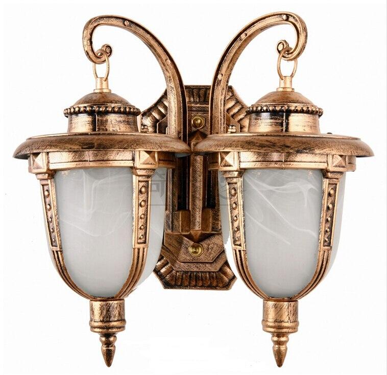 Outdoor lamp wall lamp double Waterproof villa european-style balcony door wall lamp lighting outdoor walls<br><br>Aliexpress