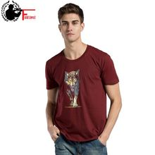 Summer Fashion Men T-shirt Short Sleeve Cotton Print One Piece Anime Wolf Male O Neck T Shirt Casual Funny Tshirt Crewneck Tee(China)