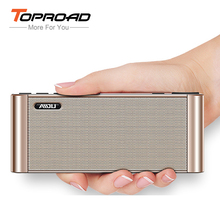 TOPROAD Hifi Bluetooth Speaker Portable LCD Wireless Speakers Dual Bass Subwoofer Soundar Altavoz Support TF AUX FM Radio USB(China)