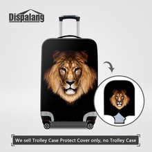 Dispalang Travel Luggage Protective Covers Lion Head Print Tour Covers Animals Theftproof Suitcase Cover For 18-30 Inch Case(China)