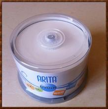 50 Pieces RITEK/Arita DVD+R Dual Layer 2-8X 8.5GB 240Min DVD+R DL D9 8.5GB Disc in Spindle cake box(China)