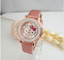 2017 Luxury Gogoey cute hello kitty watch children women ladies crystal dress quartz wrist watch Relogios Feminino kt021