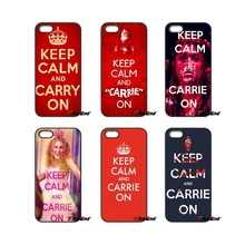 Keep Calm And Carrie On Art For iPod Touch iPhone 4 4S 5 5S 5C SE 6 6S 7 Plus Samung Galaxy A3 A5 J3 J5 J7 2016 2017 Case Cover(China)