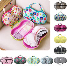 1pcs Lady Bra Storage Case Bras Protect Dots Leopard Print Portable Boxes Underwear Lingerie Travel Bags 10 colors(China)