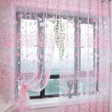 High Quality Chic Room Floral Pattern Voile Window Curtain Sheer Voile Panel Drapes Curtain