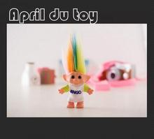 1pcs 10cm Hair Troll Family Members Daddy Mummy Baby Boys Girls Dam Anime Trolls Kids Toys for Children Birthday Gift(China)