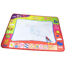 Water Magic Magical Canvas Oversized Blue Watercolor Cloth Writing Learning Graffiti Children Educational Toys(China)