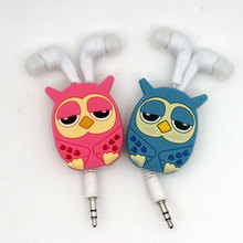 Owl Hello Kitty Despicable me stitch Headphones headset earphones Cartoon Animation Various designs(China)