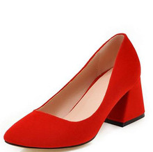 The European and American designer shoes coach red wedding shoe suede side dating ladies shoes big yards of dress shoes
