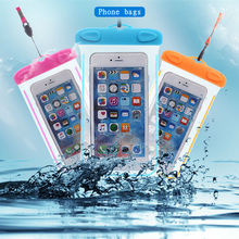 Outdoor portable Sports Waterproof phone case for Huawei P8 P9 Lite Plus Blackberry Sony s36h Swimming raining transparent Bags(China)