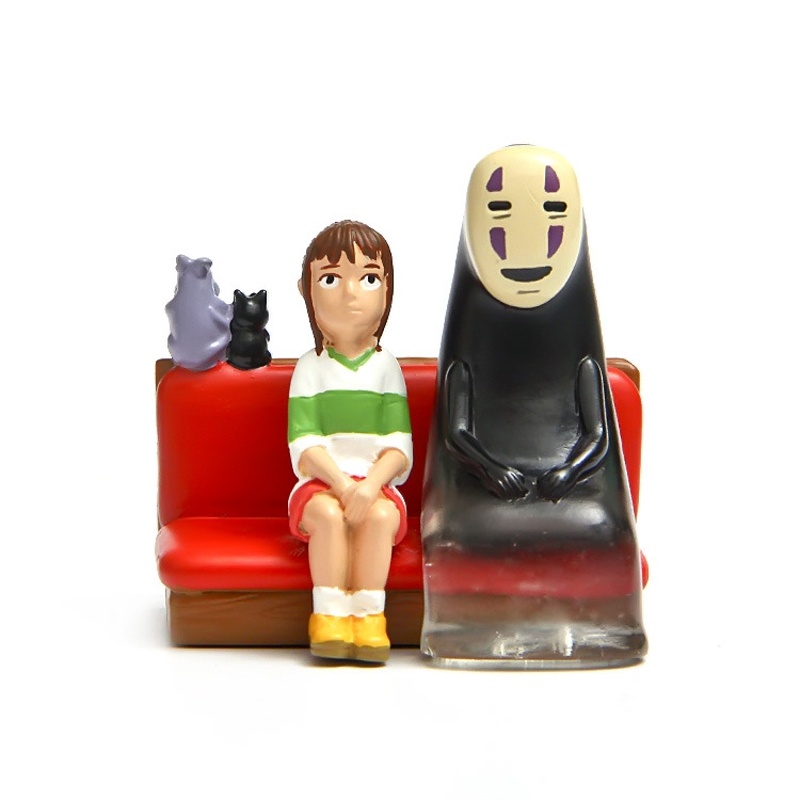Miyazaki Hayao Spirited Away No Face &amp;Glass Chihiro on Sofa Figures Toys Resin Action Figure Collection Model Toy for Home Decor<br><br>Aliexpress