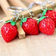 1 Piece! Fruit Key Ring Little Strawberry Keychain Cute Key Ring For Women Jewelry Girls' Gift Kids/ Friends Gift