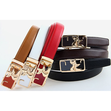 Fancy Design Girls Genuine Leather Belt Teddy Bear Mickey Shaped Buckle Cowhide Leather Straps 2017 Newest Brand Name Belts(China)