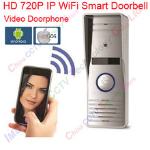 WiFi Smart Video Doorphone HD IP Camera Wireless Video Intercom System Waterproof Iphone Android APP Mobile Doorbell