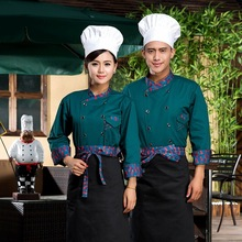 Hotel Uniform Chef Wear Long Sleeved Autumn and Winter Restaurant Catering Kitchen Work Clothing Canteen Cake Shop Clothing(China)