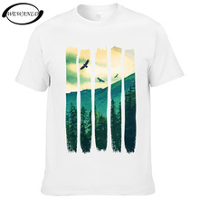 2017 Fashion Mens Clothes Eagles And Mountain Design T Shirt Casual Short Sleeve Summer T-shirt Hipster Tops Youth Tees(China)