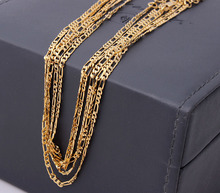 gold-color chain necklace for women wholesale fashion jewelry 2016 new cheap 18 20 22 24 26 28 30 inch length figaro chains(China)