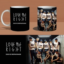 exo love me right color changing mug Color Changeing Mug Print Anime Coffee Cup Man Morning Tea Cups With Gift Box MKB472