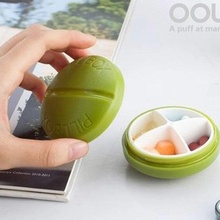 HOT 1 Pcs MIini Round Medicine Box Storage Case Portable Tablets Small Kit Travel Pill Box