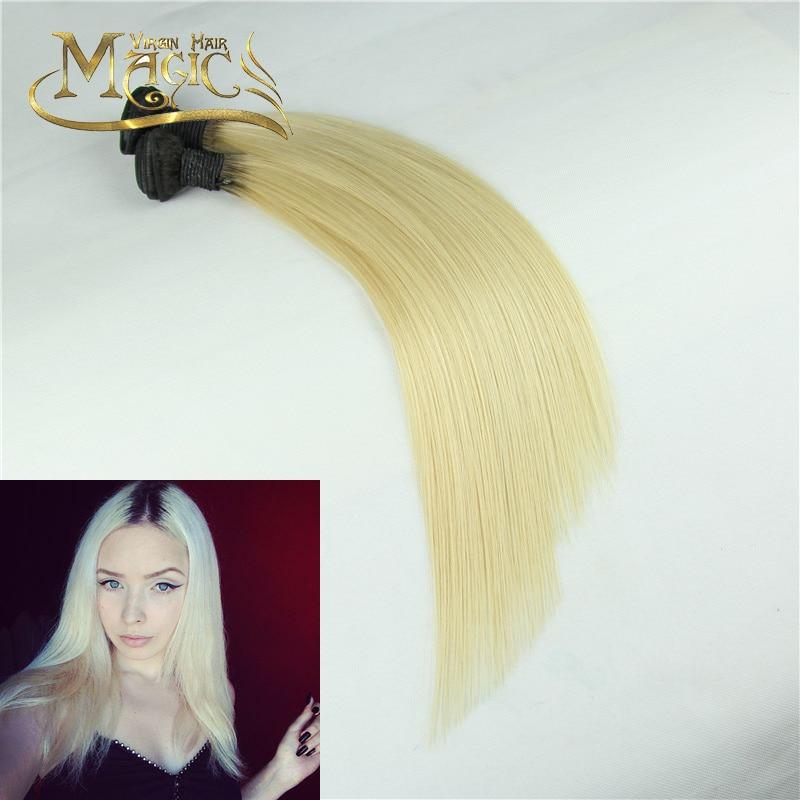 7A Brazilian Virgin Hair Straight Two Tone #1B/613 2 Bundels Per Lot Ombre Human Hair Bundles Dark Roots Blonde Straight Hair<br><br>Aliexpress