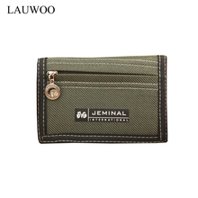 1 pcs Casual Men Canvas Wallets With Coin Zipper Short Purse For Credit Card Boy Student 3 Fold mini Purse Carteira