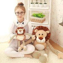 1Pcs 45cm Cute Lion Plush Toys stuffed plush Lion Cloth Doll Leo Birthday Gift For Children's High Quality