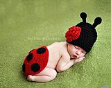 New Ladybug Toddler Boy Girl Baby Beanie Infant Costume Crochet Knit Animal Hats Caps Sets 0-6 month Newborn Photography Props