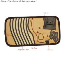 Car Auto Sun Visor CD DVD Disc Storage Holder Sunshade Pouch Bag Cover Case New