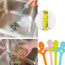 Smiling Face Designed Sink Bathroom Floor Sewer Cleaning Hook Device Tools Kits(China)