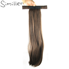 "Similler 20"" Blonde Natural Black Women Synthetic Hair Ponytails Long Straight Hairpiece Heat Resistance"